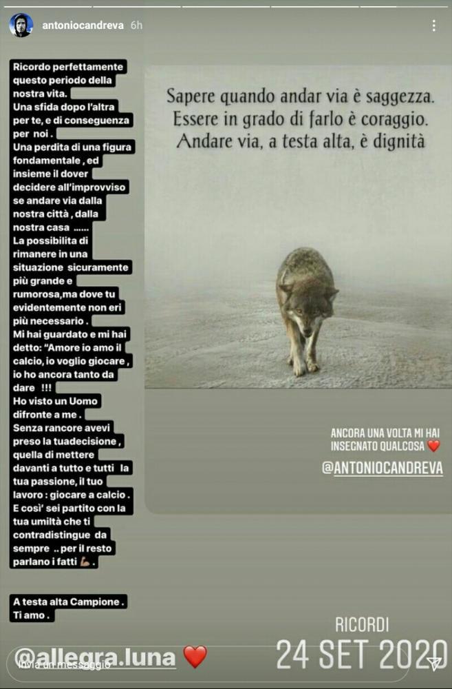 Foto dal post di Antonio Candreva
